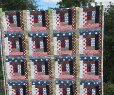 A quilt by Cheryl for her French friend