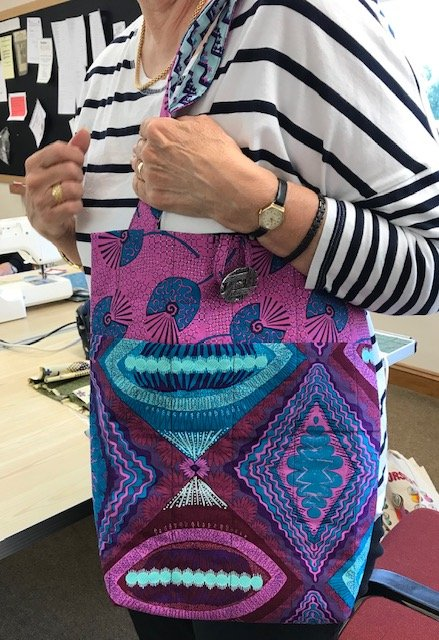 Christine Viney's bag made in Sadie Yeomans' workshop