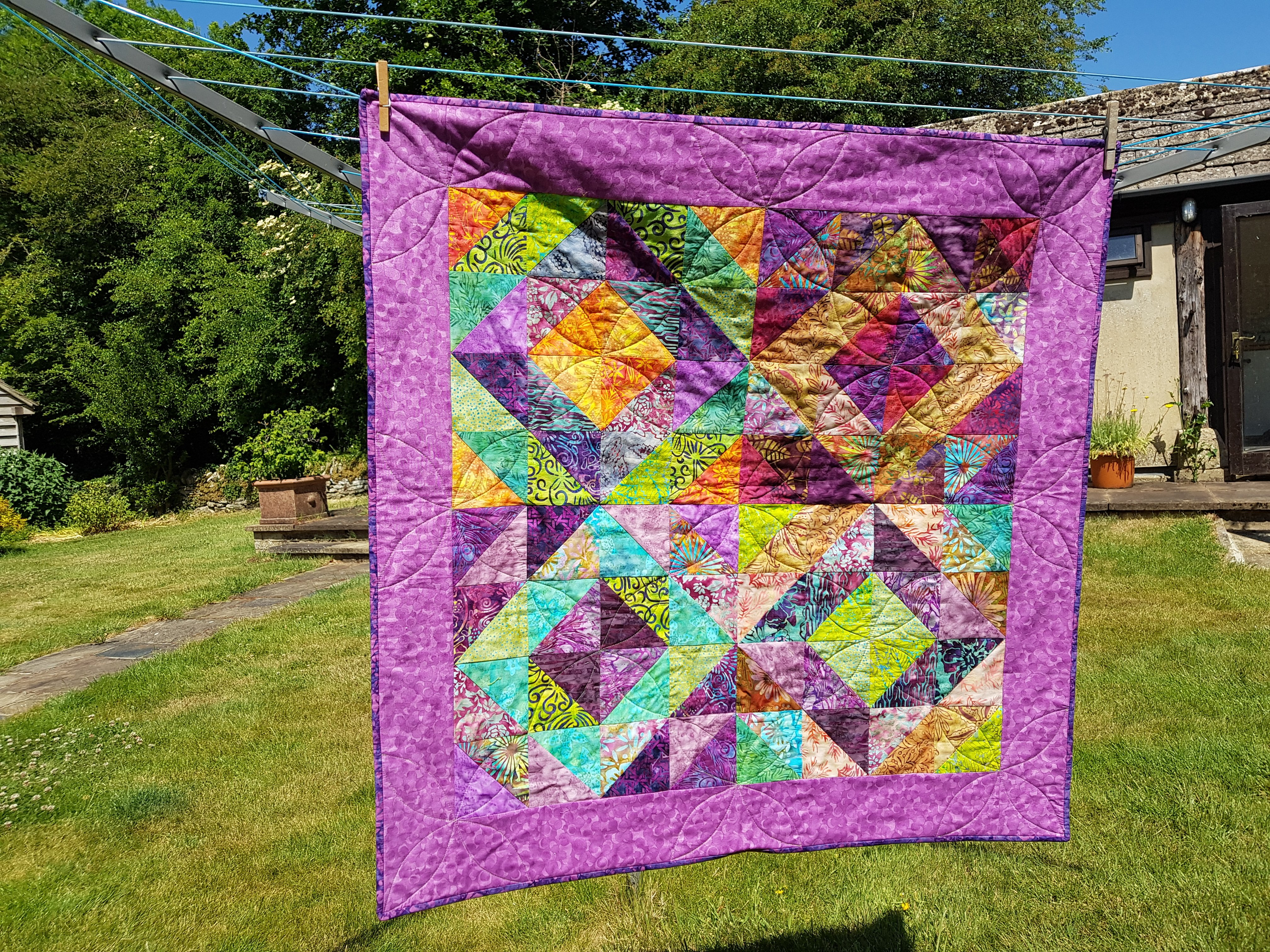 Batik quilt by Dolores