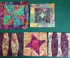 Batik Sample Blocks by Dolores