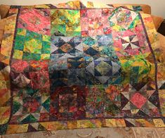 Evelyn's Batik Star Quilt