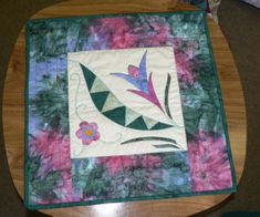 Helen's wall hanging made in Anja Townrow's workshop