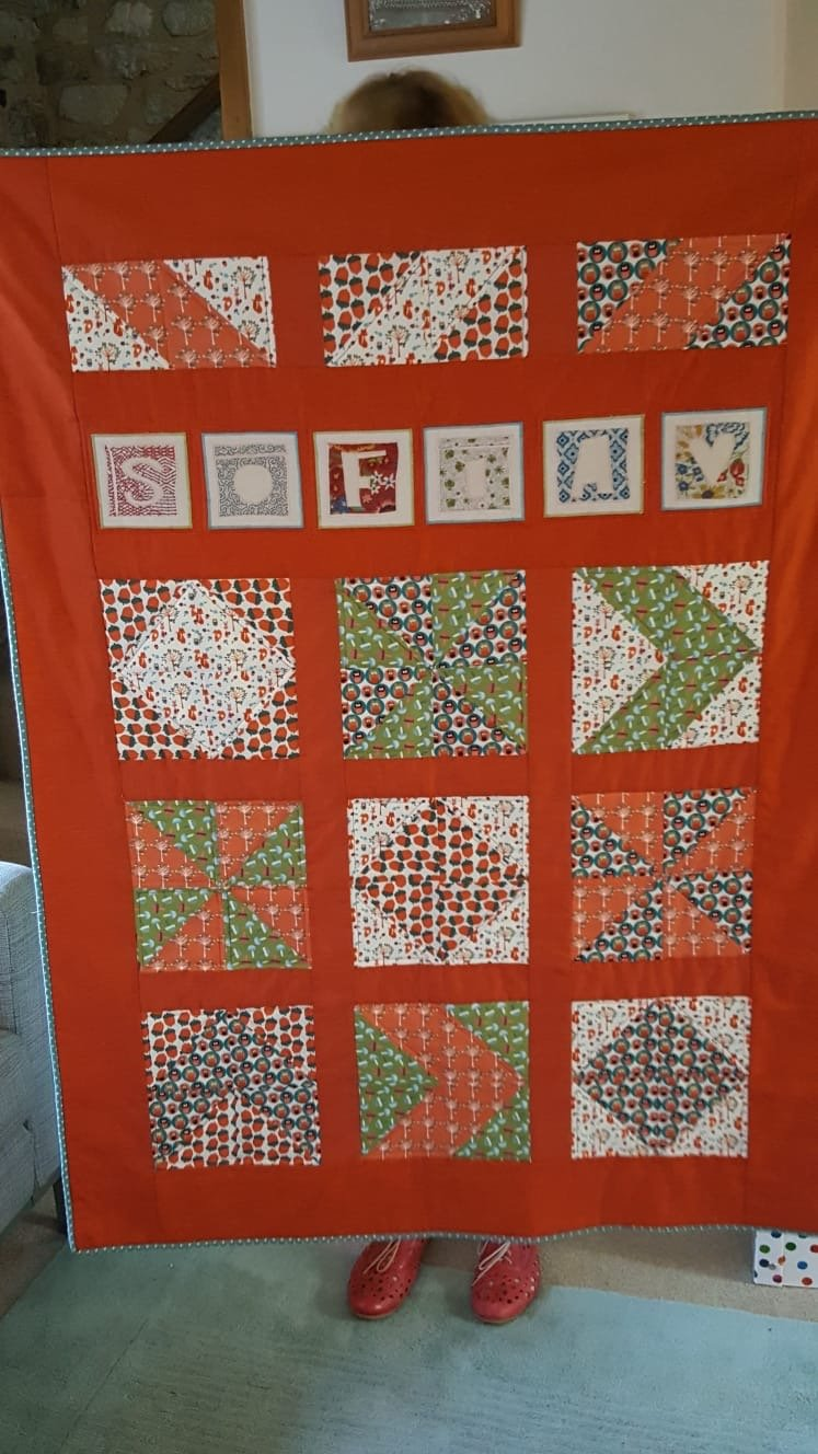 Lucy's quilt for a friend's daughter
