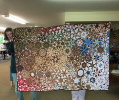 Margaret's kaleidoscope quilt started last year with Ann Hibberd