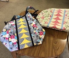 """Ruby"" day bags made in Sadie Yeomans' recent wokshop"