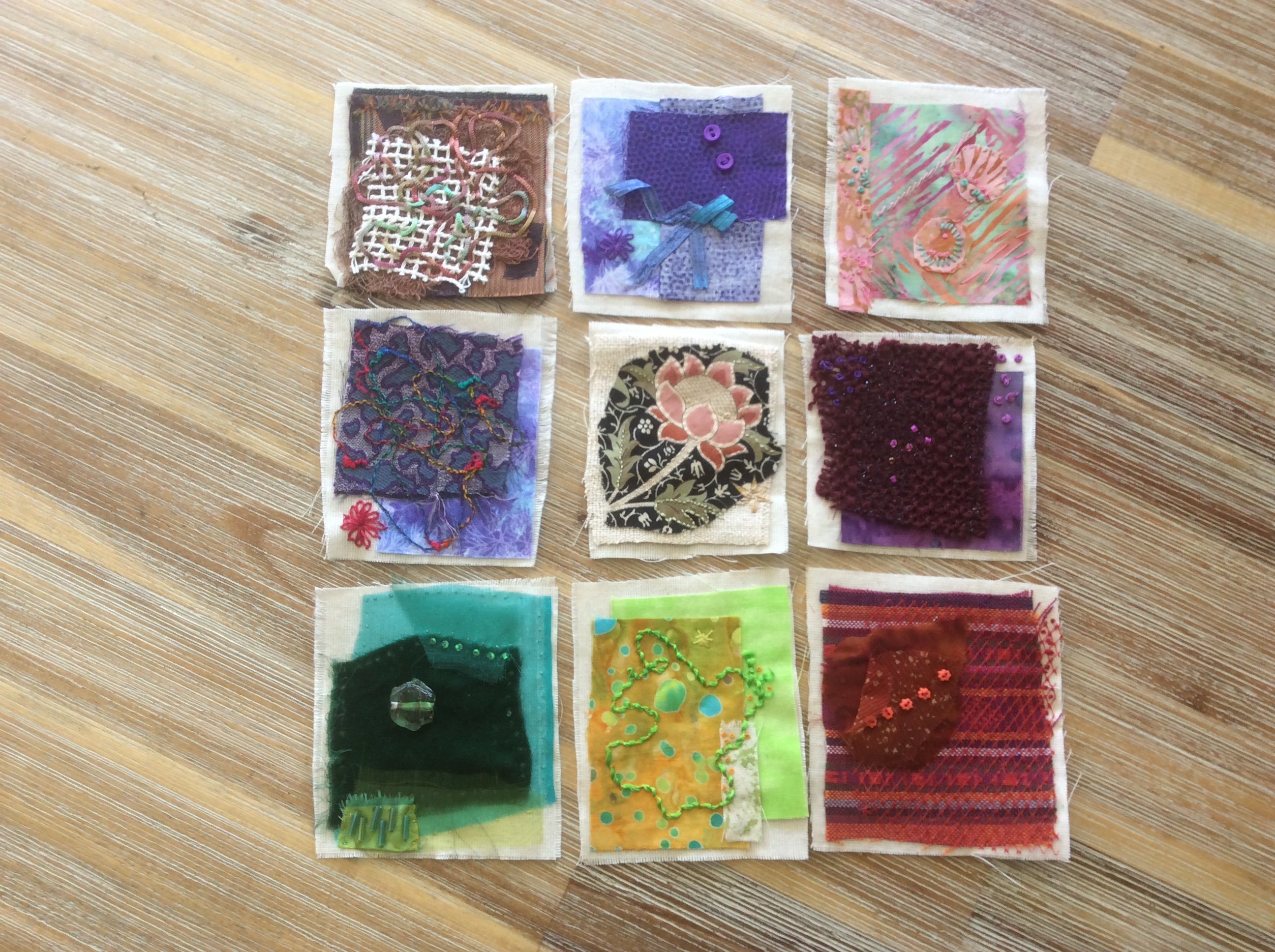 "Sheila Allen's ""Small Stitched Stories"" (4 x 4)"