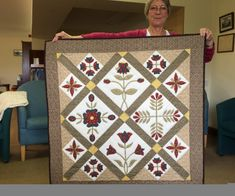 Teresa's applique quilt
