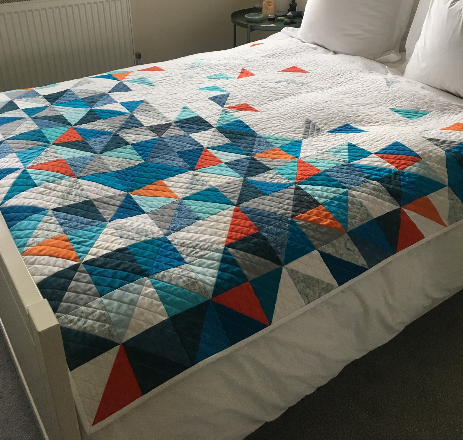 Teresa's latest quilt inspired by a picture on Pinterest